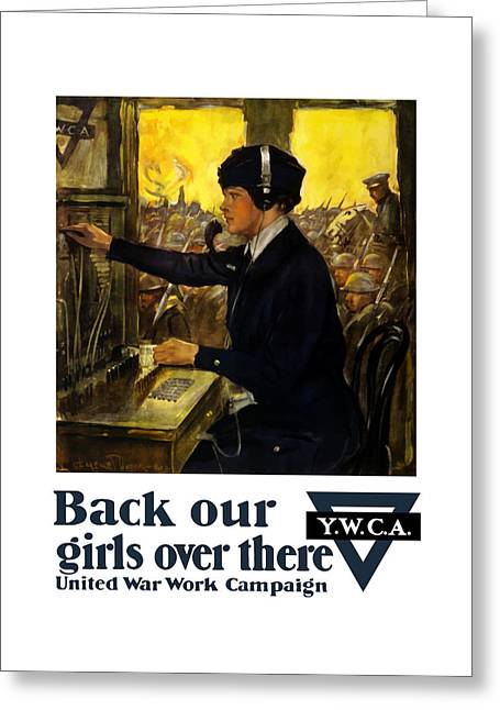 Back Our Girls Over There Greeting Card by War Is Hell Store