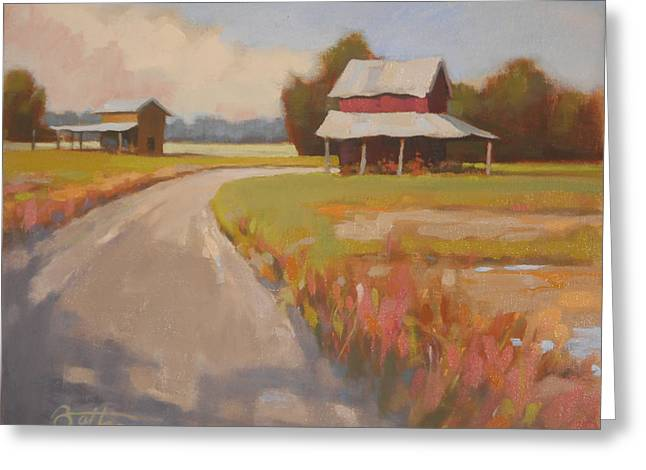 Outbuildings Greeting Cards - Back Roads Greeting Card by Todd Baxter