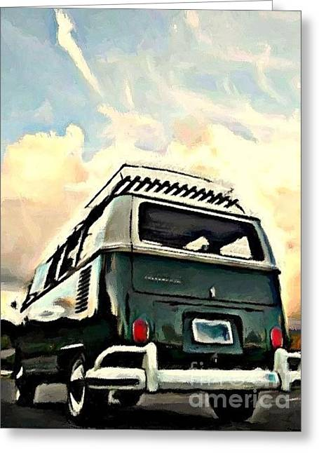 Back Side Greeting Card by S Poulton