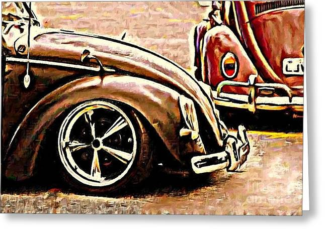 Back To Front Greeting Card by S Poulton