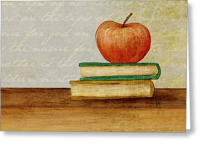 Back To School Greeting Card by Brenda Bryant