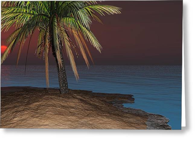 Digital_art Greeting Cards - Back To The Island Greeting Card by Louis Ferreira