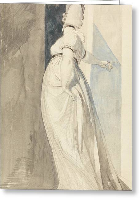 Swiss Paintings Greeting Cards - Back View of a Standing Female Called Mrs. Fuseli Greeting Card by Henry Fuseli