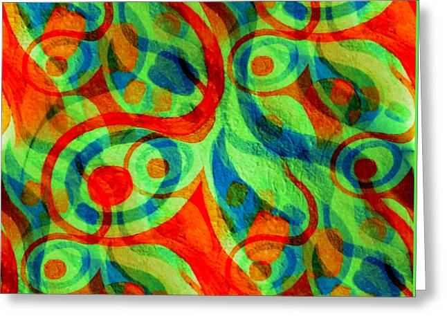 Stir Mixed Media Greeting Cards - Background Choice Coffee Time Abstract Greeting Card by Barbara Moignard