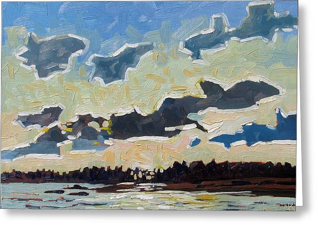 Canoe Greeting Cards - Backlit Singleton Stratocumulus Greeting Card by Phil Chadwick