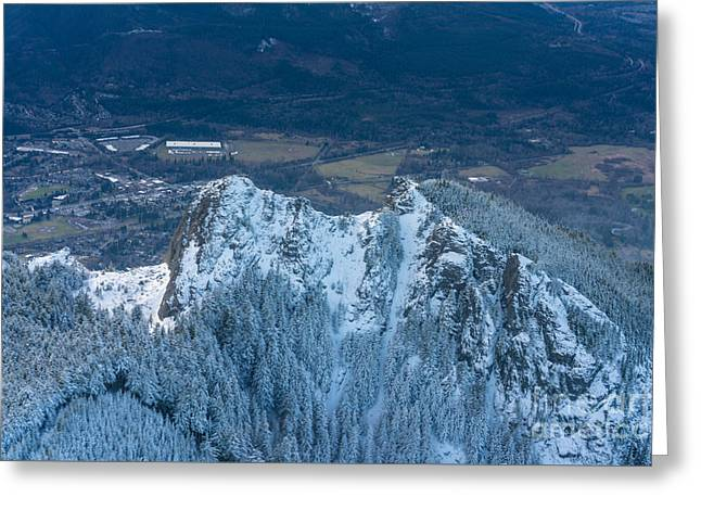 Backside Of Mount Si Greeting Card by Mike Reid
