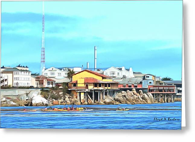 Ocean Scenes Greeting Cards - Fishermans Wharf 2 Greeting Card by Barbara Snyder