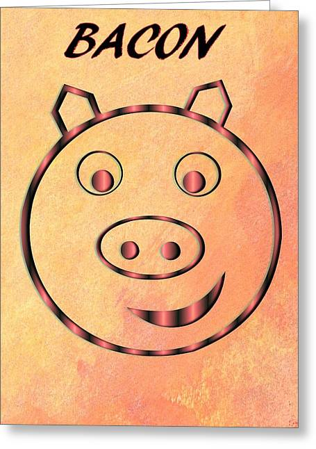 Lettuce Mixed Media Greeting Cards - Bacon Greeting Card by Dan Sproul