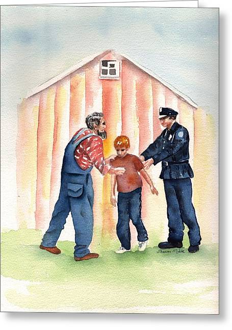 Law Enforcement Paintings Greeting Cards - Bad Boy Greeting Card by Sharon Mick