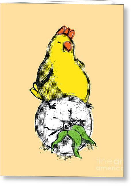 Humor Digital Art Greeting Cards - Bad Egg Greeting Card by Budi Satria Kwan