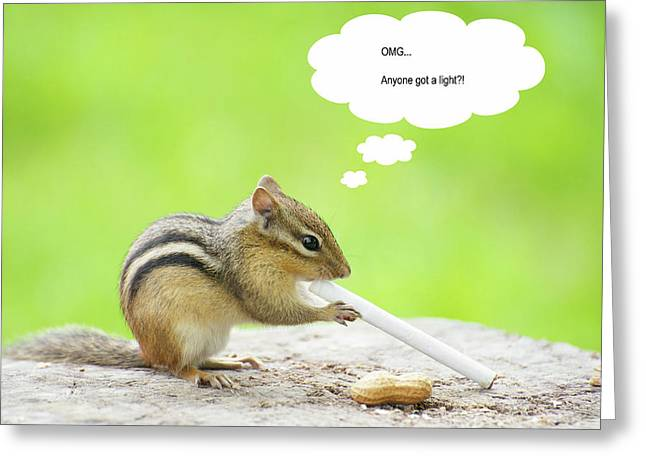 Captions Greeting Cards - Bad Habits. Greeting Card by Kelly Nelson