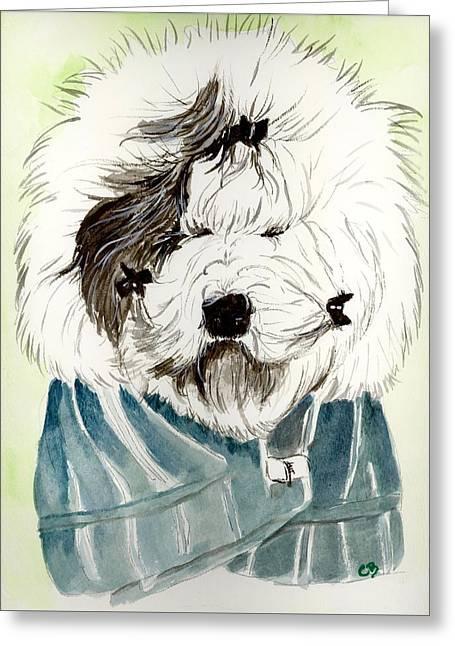 Bad Hair Day Greeting Card by Carol Blackhurst