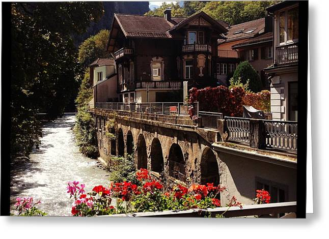 Swiss Photographs Greeting Cards - Bad Ragaz in Spring Greeting Card by Manda Koepp-Piesche