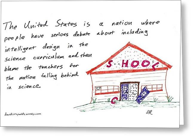 Reform Drawings Greeting Cards - Bad Science Greeting Card by David S Reynolds