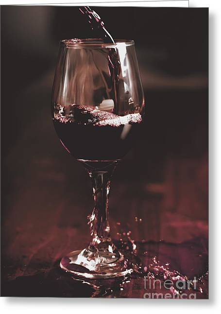 Wine Service Photographs Greeting Cards - Bad table service with a pour aim Greeting Card by Ryan Jorgensen