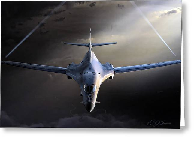Jet Airplane Greeting Cards - Bad To The Bone Greeting Card by Peter Chilelli