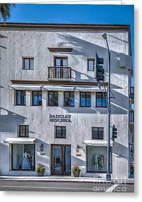 Badgley Mischka Beverly Hills Greeting Card by David Zanzinger