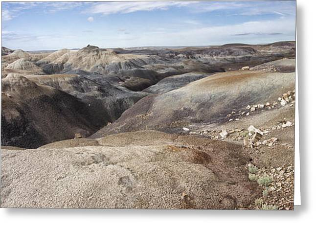Petrified Forest National Park Greeting Cards - Badlands in Petrified Forest Greeting Card by Melany Sarafis