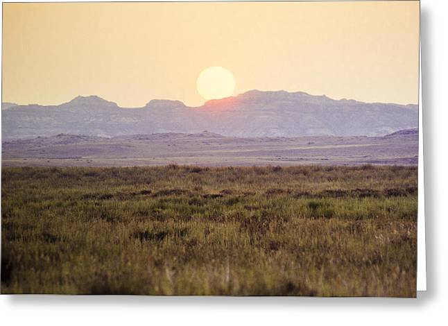 Canoe Photographs Greeting Cards - Badlands Sunset Greeting Card by David M Porter