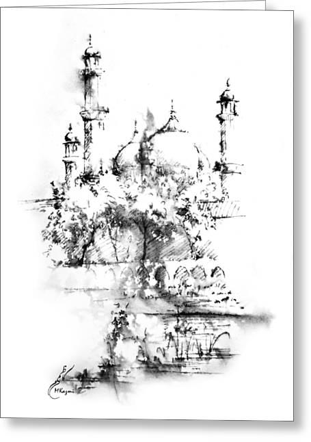Badshahi Mosque Lahore Greeting Card by MKazmi Syed