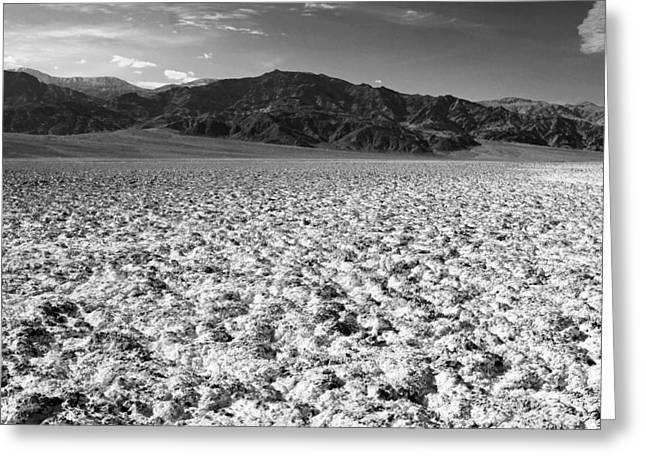 Panamint Valley Greeting Cards - Badwater and the Panamints Greeting Card by Troy Montemayor