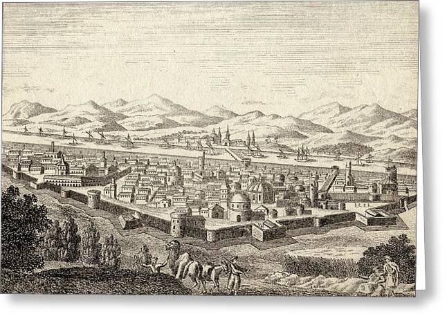 Iraq Drawings Greeting Cards - Bagdad Iraq In Late 18th Century Greeting Card by Ken Welsh
