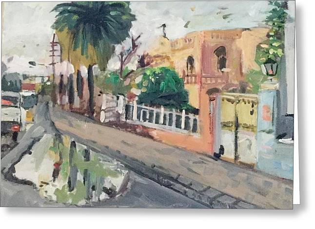 Baghdad Old House Greeting Card by Montasir Wali