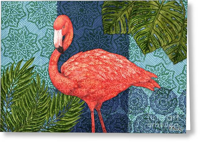 Flamingo Greeting Cards - Bahama Flamingo - Horizontal Greeting Card by Paul Brent