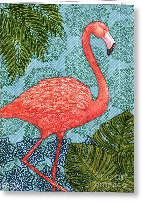 Flamingo Greeting Cards - Bahama Flamingo - Vertical Greeting Card by Paul Brent