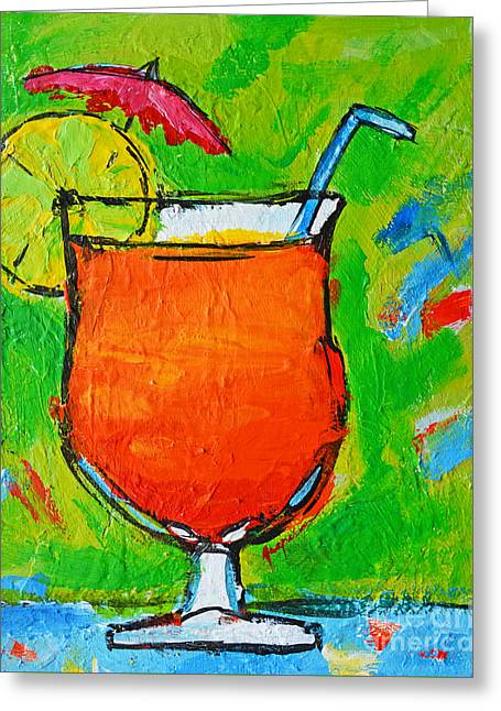 Bahama Mama - Tropical Drink Greeting Card by Patricia Awapara