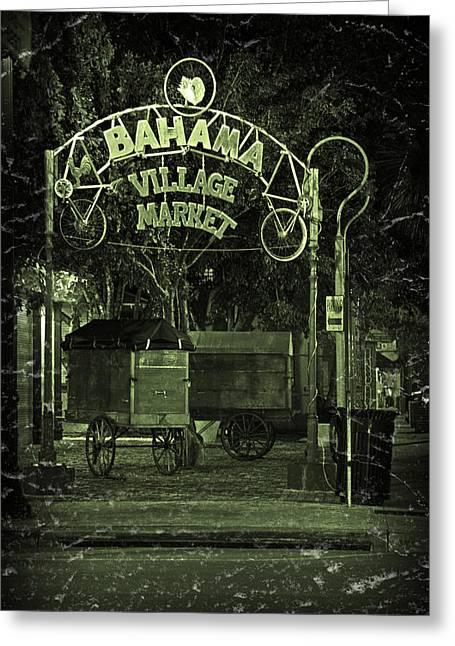 Night Scenes Greeting Cards - Bahama Village Market Key West Florida Greeting Card by John Stephens