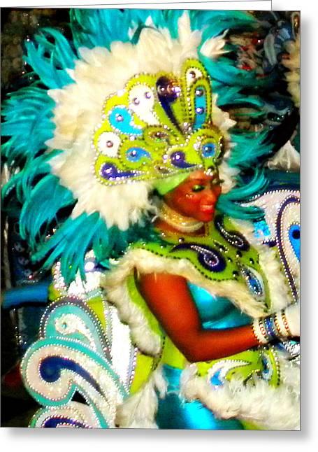 Bahamas Junkanoo Carnival Greeting Card by Darin Bokeno
