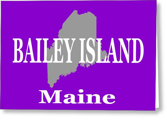 Bailey Island Maine City And Town Pride  Greeting Card by Keith Webber Jr