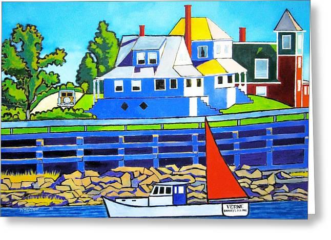 Bailey's Island Greeting Card by Nicholas Martori