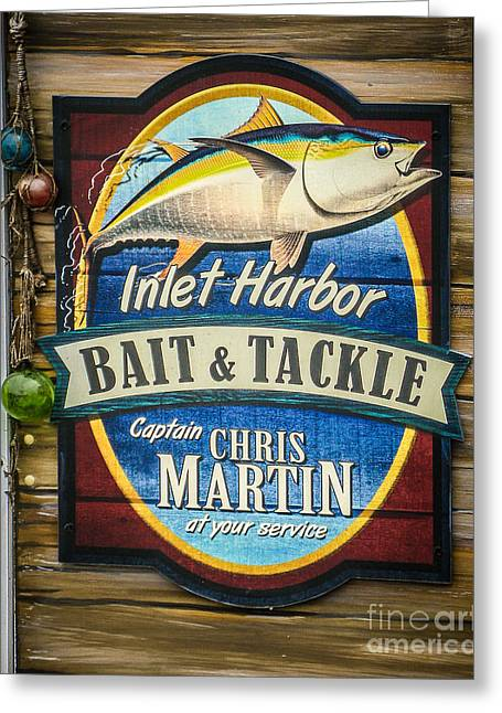 Store Fronts Greeting Cards - Bait and Tackle Greeting Card by Perry Webster