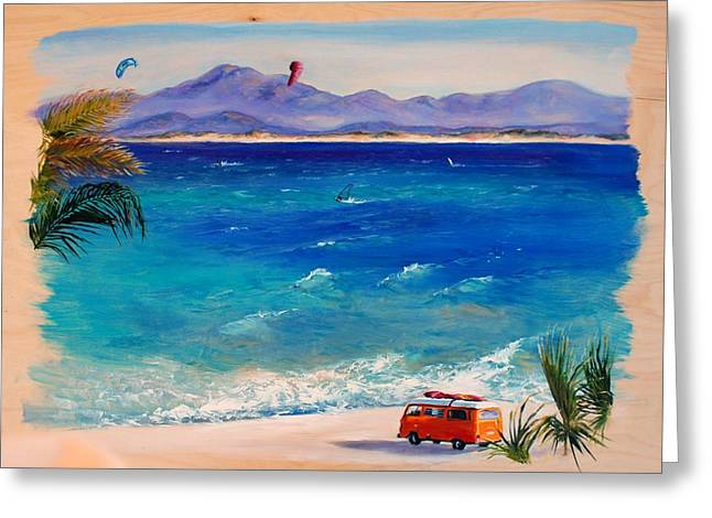 Baja Safari Greeting Card by Lynee Sapere