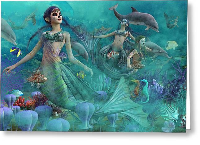 Bajo El Mar De Los Muertos  Greeting Card by Betsy C Knapp