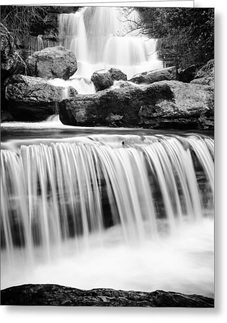 Bajouca Waterfall Bw II Greeting Card by Marco Oliveira