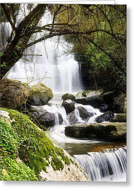 Bajouca Waterfall Iv Greeting Card by Marco Oliveira