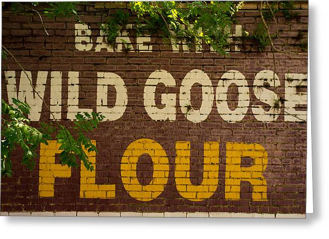 Flour Greeting Cards - Bake With Wild Goose Flour Greeting Card by Douglas Barnett