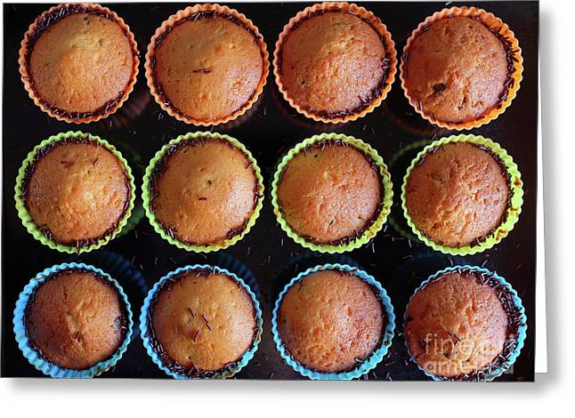 Baked Cupcakes Greeting Card by Carlos Caetano