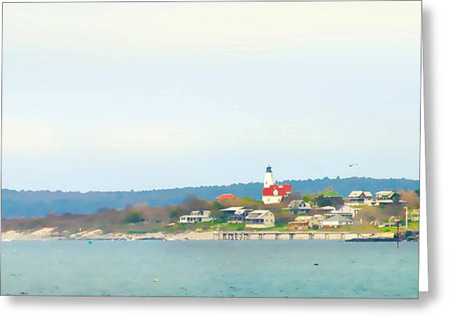 Bakers Island Lighthouse Greeting Card by Michelle Wiarda