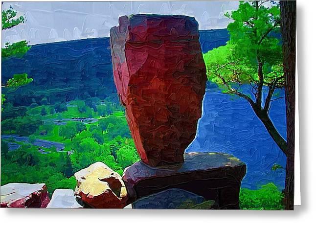 Rock Pile Greeting Cards - Balance Greeting Card by Deborah MacQuarrie