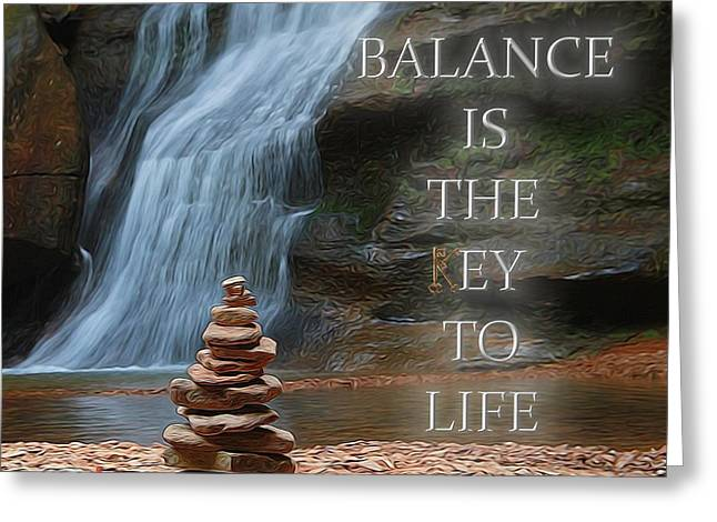 Balance Is The Key Greeting Card by Dan Sproul