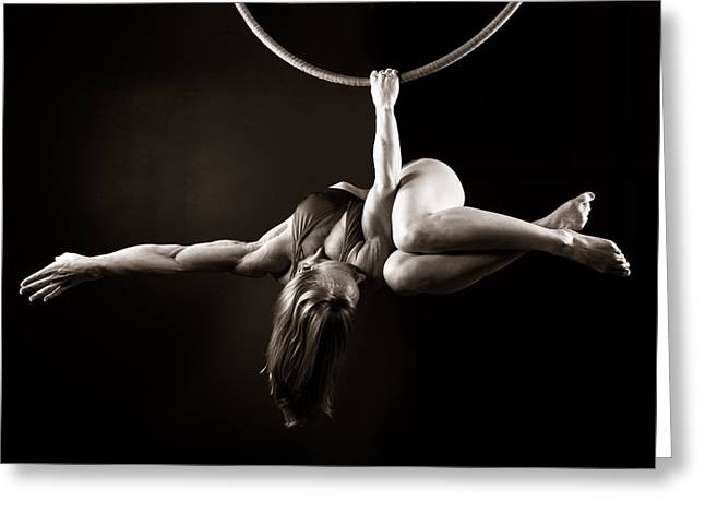 Arial Greeting Cards - Balance of Power 2011 Meathook Greeting Card by Monte Arnold