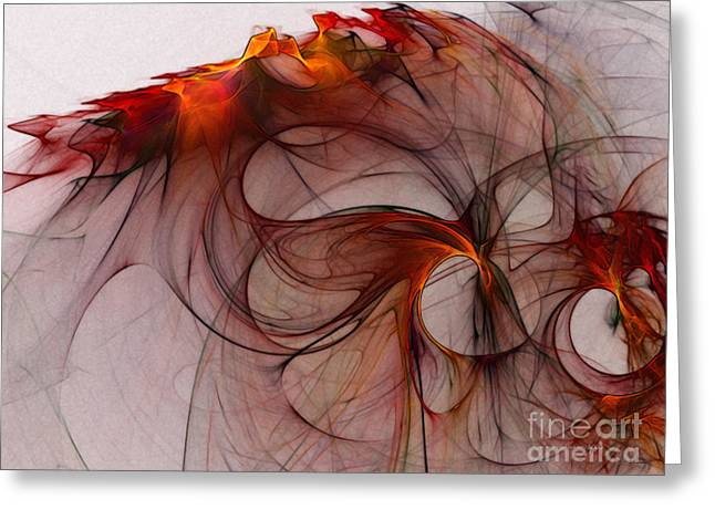 Balance Of Power Abstract Art Greeting Card by Karin Kuhlmann