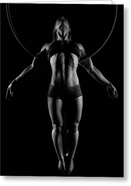 Balance Of Power - Symmetry Greeting Card by Monte Arnold