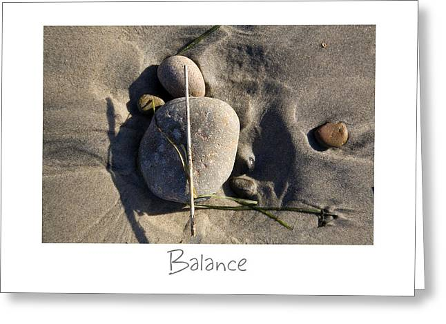 California Beaches Photographs Greeting Cards - Balance Greeting Card by Peter Tellone