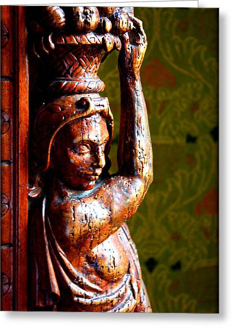 Wood Sculpture Greeting Cards - Balance Greeting Card by Susie Weaver