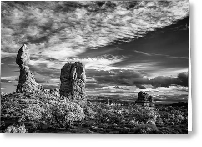 Balanced Rock And Friends Greeting Card by Jon Glaser